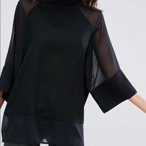 ASOS black sheer top